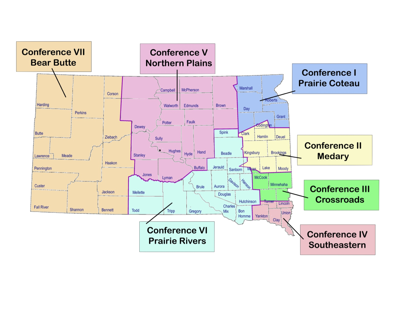 Synod Conference Map
